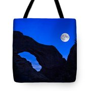 Moonrise Over North Window Arch Tote Bag