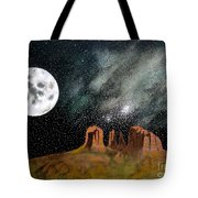Moonrise Over Sedona Tote Bag