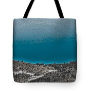 Moonrise Over The Mountain Tote Bag