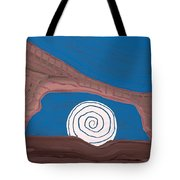 Moonscape Original Painting Tote Bag