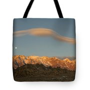 Moonset Over Mt Whitney Img 0637 Tote Bag