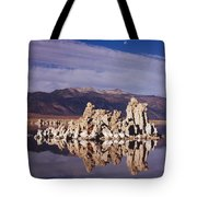 Moonset Over Tufa Tote Bag