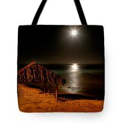 Moonset Over Windnsea Tote Bag
