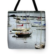 Moored At Kittery Point Maine Tote Bag