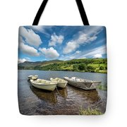 Moored Boats  Tote Bag by Adrian Evans