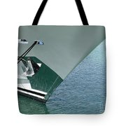 Moored Ships Bow With Retracted Anchor Abstract Tote Bag