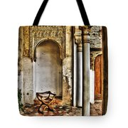 Moorish Chair And Alcove At The Alhambra Tote Bag