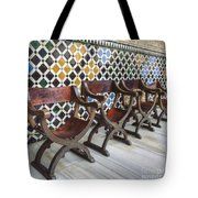 Moorish Tile Work At The Alhambra Tote Bag