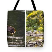 Moose And Baby 5 Tote Bag