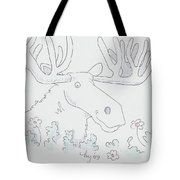 Moose Cartoon Tote Bag