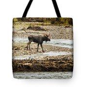Moose Crossing River No. 1 - Grand Tetons Tote Bag