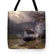 Moose In The Adirondacks Tote Bag
