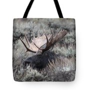 Moose Relaxing Tote Bag