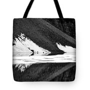 Moraine Lake Abstract - Black And White #2 Tote Bag