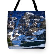 Moraine Lake Reflection Abstract Tote Bag