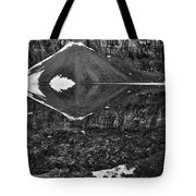 Moraine Lake Reflections - Black And White Tote Bag