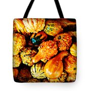 More Beautiful Gourds - Heralds Of Fall Tote Bag