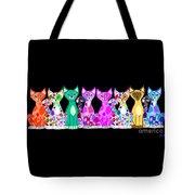More Colorful Kitties Tote Bag