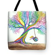 More Rainbow Tree Dreams Tote Bag by Nick Gustafson