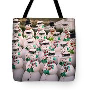 More Snowmen Tote Bag
