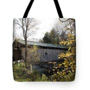 Morgan Bridge Belvidere Junction Vermont Tote Bag