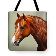 Morgan Horse - Flame - Mirrored Tote Bag