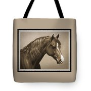Morgan Horse Old Photo Fx Tote Bag