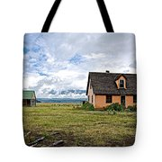 Mormon Row Historic District In Grand Tetons National Park-wyoming Tote Bag