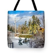 Morning After The Ice Storm Tote Bag