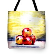 Morning Apples Tote Bag