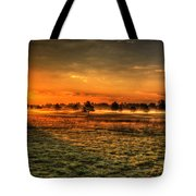 Morning Arrives At Foxfire  Tote Bag