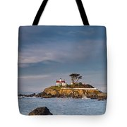 Morning At Battery Point Lighthouse Tote Bag