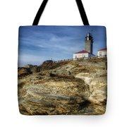 Morning At Beavertail Lighthouse Tote Bag