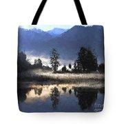 Morning At Lake Matheson Tote Bag