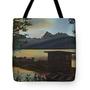 Morning At Lake Mcdonald Glacier Park Tote Bag