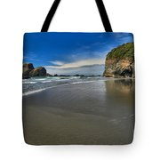 Morning Beach Reflections Tote Bag