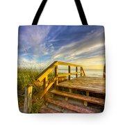 Morning Beach Walk Tote Bag by Debra and Dave Vanderlaan