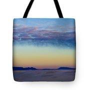 Morning Begins In White Sands Tote Bag by Sandra Bronstein