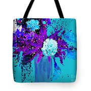 Morning Callas And Orchids  Tote Bag