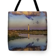 Morning Clouds At Cape May Light Tote Bag
