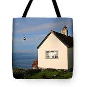 Morning Cottage At Lyme Regis Tote Bag