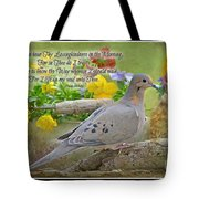 Morning Dove With Verse Tote Bag