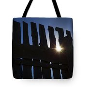 Morning Fence Tote Bag