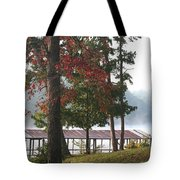Morning Fog At Shangra-la Tote Bag