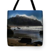 Morning Fog Burn Tote Bag