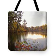 Morning Fog On The Lake Tote Bag