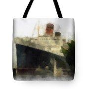 Morning Fog Queen Mary Ocean Liner 01 Photo Art 01 Tote Bag