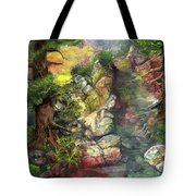 Morning Forest Hike Tote Bag