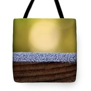 Morning Frost Abstract Tote Bag