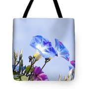 Morning Glory Flowers Tote Bag